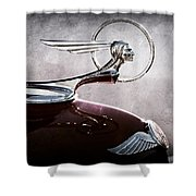 1933 Pontiac Hood Ornament Shower Curtain