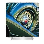 1933 Pontiac Spare Tire -0431c Shower Curtain