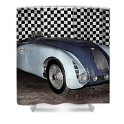 1936 Bugatti 57g Tank Shower Curtain