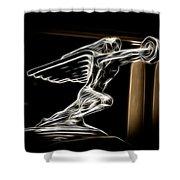 1936 Packard Hood Ornament Shower Curtain