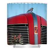 1937 Buick Boattail Roadster Grille Emblems Shower Curtain