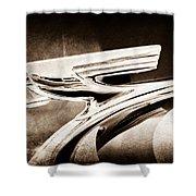 1937 Chevrolet 2 Door Sedan Hood Ornament Shower Curtain
