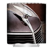 1937 Ford Hood Ornament Shower Curtain