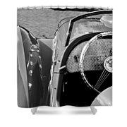 1937 Peugeot 402 Darl'mat Legere Speacial Sport Roadster Recreation Steering Wheel Emblem Shower Curtain