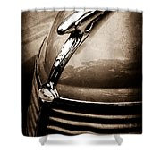 1938 Ford Hood Ornament Shower Curtain