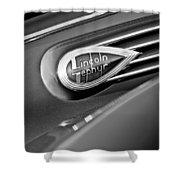 1938 Lincoln Zephyr Convertible Sedan Emblem Shower Curtain
