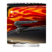 1939 Graham Coupe Hood Ornament Shower Curtain by Ron Pate
