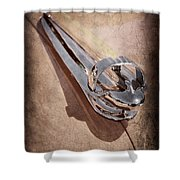 1947 Chevrolet Deluxe Hood Ornament Shower Curtain
