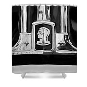 1948 Pontiac Streamliner Woodie Station Wagon Emblem Shower Curtain