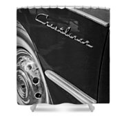 1951 Ford Crestliner Emblem - Wheel Shower Curtain by Jill Reger