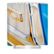 1953 Chevrolet Belair Convertible Emblem Shower Curtain