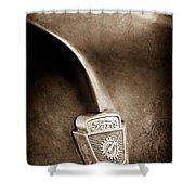 1953 Ford F100 Pickup Truck Hood Emblem Shower Curtain