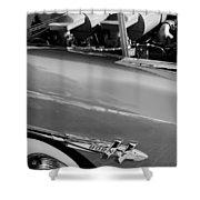 1953 Hudson Hornet Sedan Engine Shower Curtain