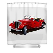 1953 M G T D  Shower Curtain