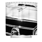 1953 Nash-healey Convertible Grille Emblem Shower Curtain