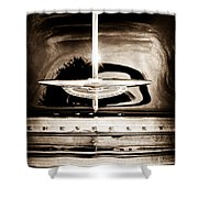 1954 Chevrolet Deluxe Grille Emblem Shower Curtain