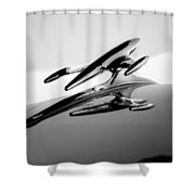 1954 Gmc 100 Pickup Hood Ornament Shower Curtain