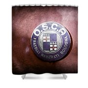 1954 O.s.c.a. Mt4 Maserati Emblem Shower Curtain