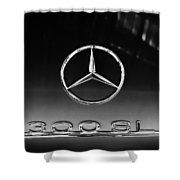 1955 Mercedes-benz Gullwing 300 Sl Emblem Shower Curtain