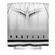 1955 Pontiac Safari Hood Ornament Shower Curtain