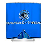 1956 Alfa Romeo Sprint Veloce Coupe Emblem Shower Curtain