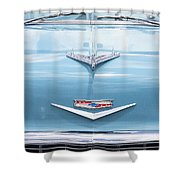 1956 Chevrolet Hood Ornament Shower Curtain
