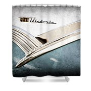 1956 Ford Crown Victoria Glass Top Emblem Shower Curtain