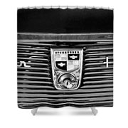 1956 Studebaker Golden Hawk Emblem Shower Curtain