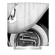 1956 Volkswagen Vw Bug Tool Kit Shower Curtain