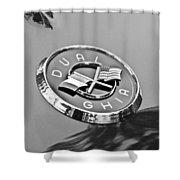 1957 Dual-ghia Convertible Emblem Shower Curtain