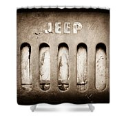 1957 Jeep Emblem Shower Curtain