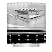 1958 Cadillac Eldorado Biarritz Convertible Emblem Shower Curtain by Jill Reger