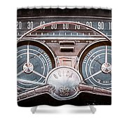 1959 Buick Lesabre Steering Wheel Shower Curtain