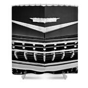 1959 Cadillac Eldorado Grille Emblem Shower Curtain