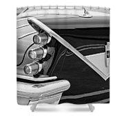 1959 Desoto Adventurer Convertible Tail Light Emblem Shower Curtain