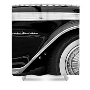 1959 Desoto Adventurer Convertible Wheel Shower Curtain