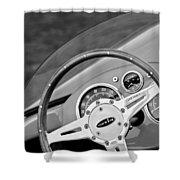 1959 Devin Ss Steering Wheel Shower Curtain