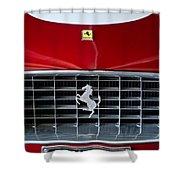1960 Ferrari 250 Gt Swb Berlinetta Competizione Grille Emblem Shower Curtain