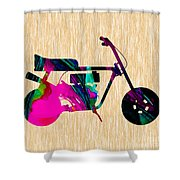 1960s Mini Bike Shower Curtain