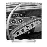 1961 Chevrolet Impala Ss Steering Wheel Emblem Shower Curtain
