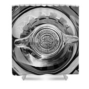 1962 Ghia L6.4 Coupe Wheel Emblem -2169bw Shower Curtain