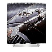 1964 Jaguar Mk2 Saloon Hood Ornament And Emblem Shower Curtain