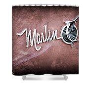 1965 Rambler Marlin Emblem Shower Curtain