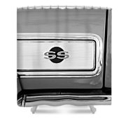 1966 Chevrolet II Ss L79 Taillight Emblem Shower Curtain