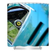 1966 Ferrari 275 Gtb Steering Wheel Emblem Shower Curtain