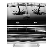 1966 Ford Galaxie 500 Convertible Grille Emblem - Hood Ornament Shower Curtain