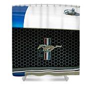 1966 Shelby Gt 350 Grille Emblem Shower Curtain