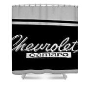 1967 Chevrolet Camaro Emblem Shower Curtain