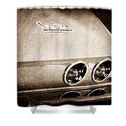 1967 Chevrolet Corvette Taillight Shower Curtain