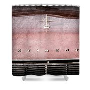 1967 Lincoln Continental Hood Ornament - Emblem Shower Curtain